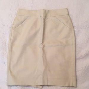 J crew pencil skirt in cream